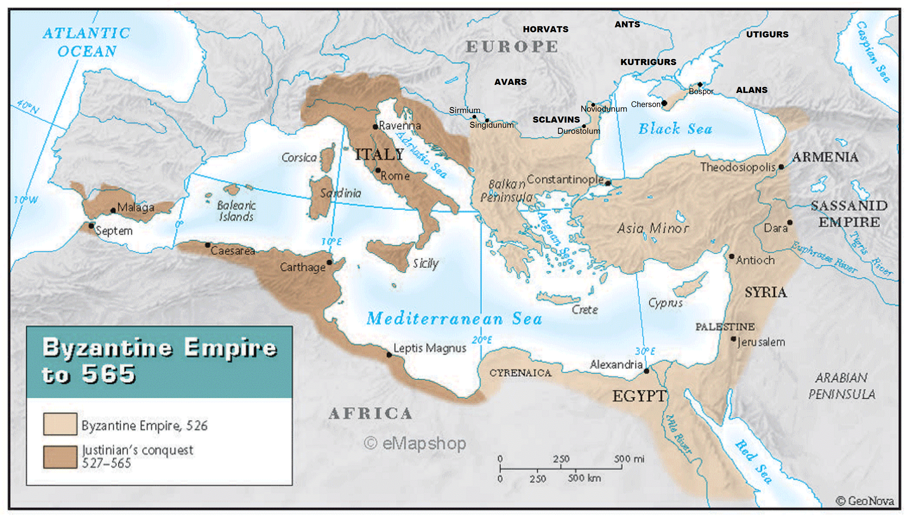 Византийская империя накануне вторжения тюрков в Крым